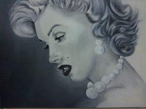 Mi Marilyn Monroe Retrato Óleo