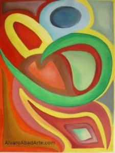 Abrazos Oleo Abstracto Color