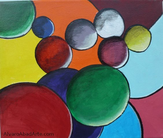 Esferas Oleo Abstracto