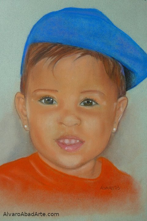 Carla Retrato Pastel Retrato