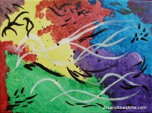 Corales Acrílico Abstracto
