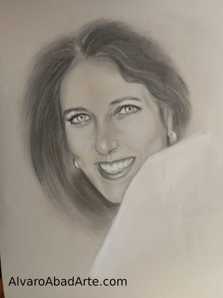 Lucía Álvarez Retrato Grafito