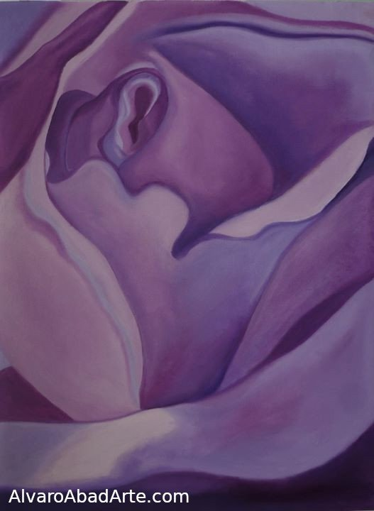 Malva Rosa - Óleo sobre Lienzo