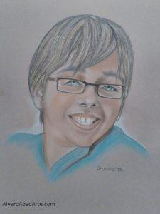 Mi Hugo Retrato Pastel