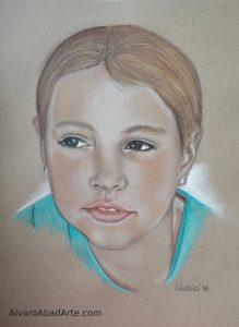 Mi Nuria Retrato Pastel