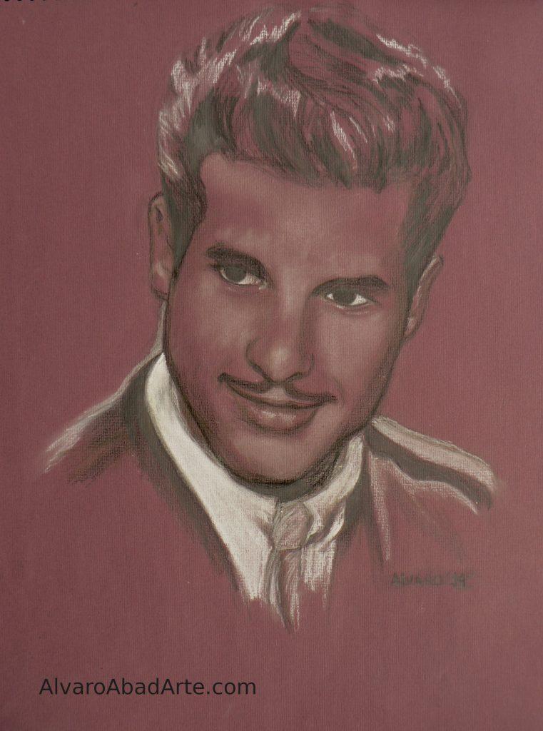 Mi Padre Retrato Pastel