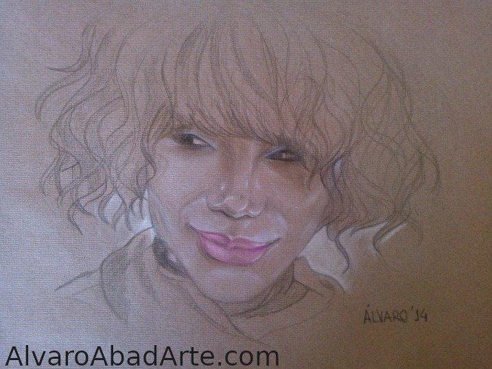 Vicky Retrato Pastel