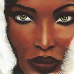 Naomi Campbell Retrato Pastel