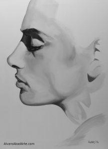Matt Lattanzi Retrato Óleo Blanco y Negro Exposición II Art Creators Barcelona