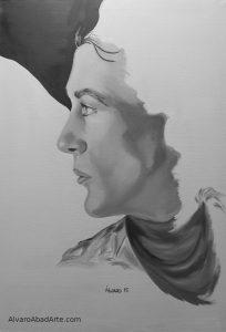 Gary Cooper Retrato Óleo Crearium