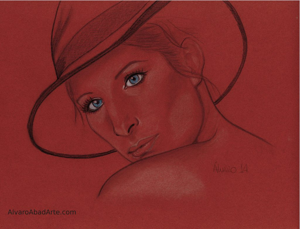 Barbra Streissand Retrato Pastel