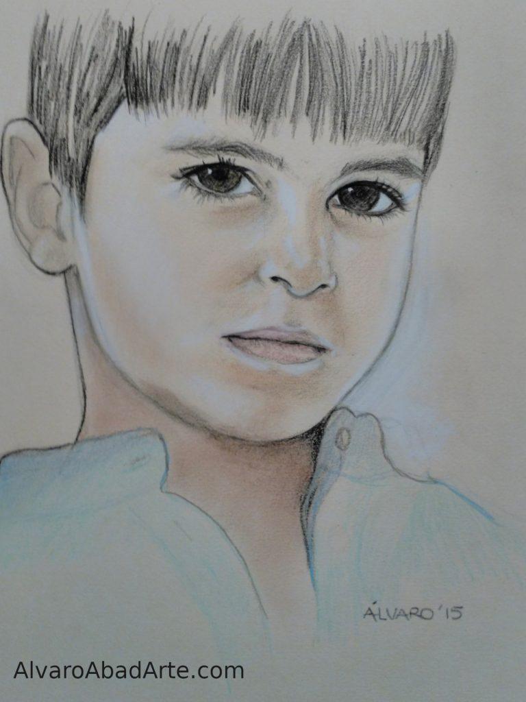 Mi Rodrigo Retrato Pastel
