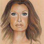 Vanessa Williams Retrato Pastel