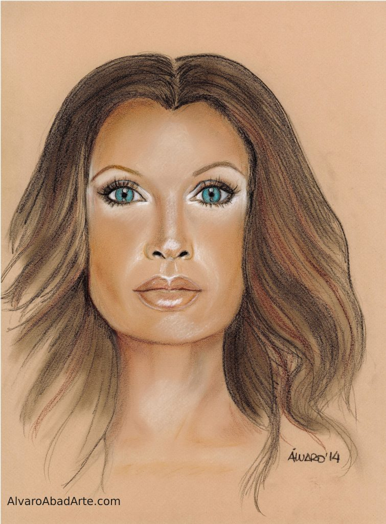 Vanessa Williams Retrato Pastel