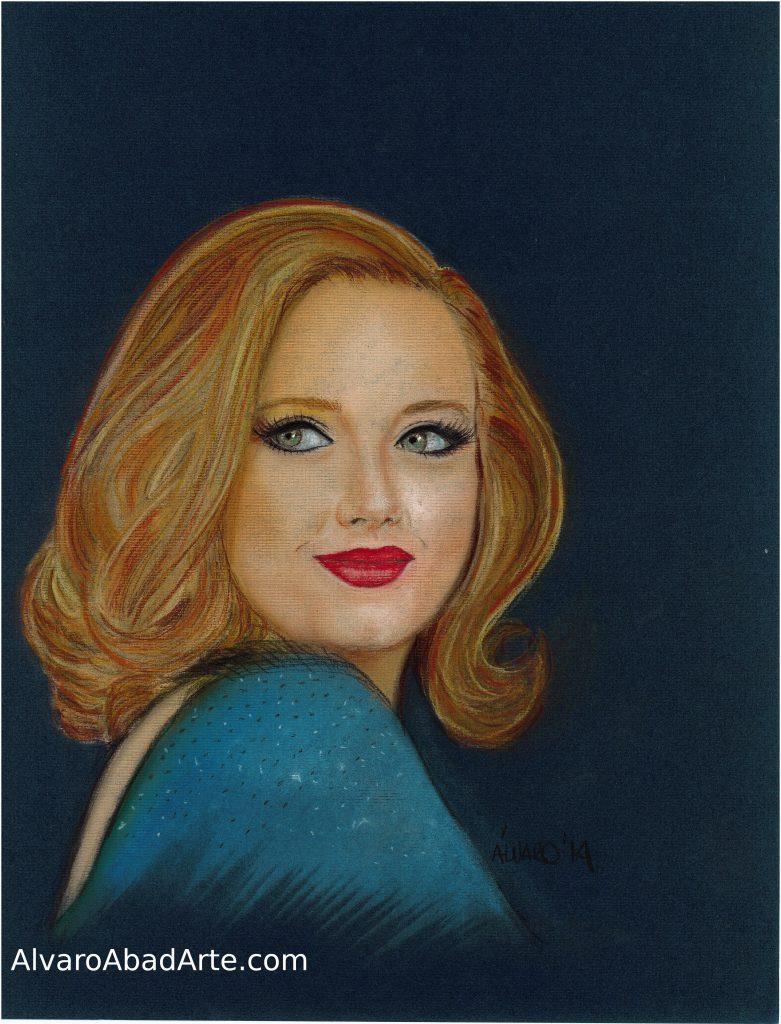 Adele Retrato Pastel