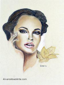 Shayla Dúrcal Retrato Pastel