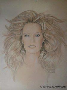 Farrah Retrato Pastel