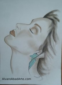 Ana Belén Retrato Pastel Alvaro Abad Arte