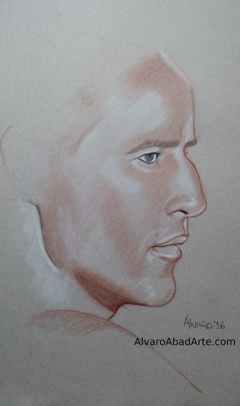 Marlon Brandon Retrato Pastel