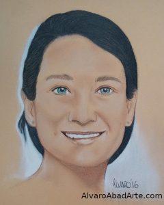 Verónica 2 Retrato Pastel Alvaro Abad Arte