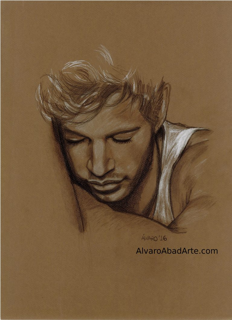 William Levy Retrato Pastel Alvaro Abad Arte